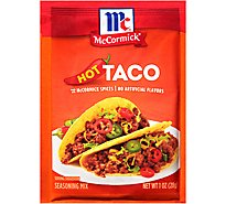 McCormick Seasoning Mix Taco Hot - 1 Oz