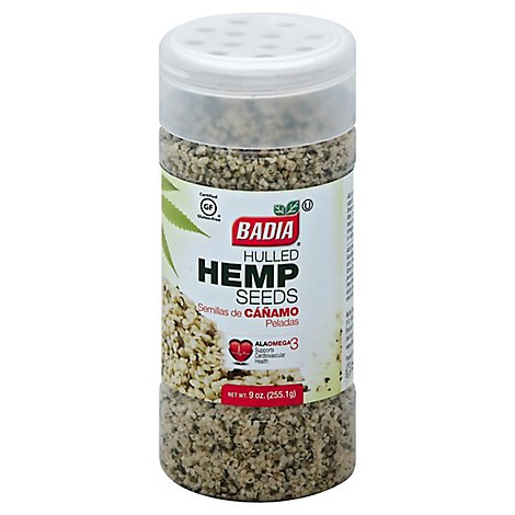 Badia Hemp Seeds Hulled - 9 Oz