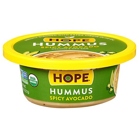 Hope Foods Spicy Avocado Hummus - 8 Oz