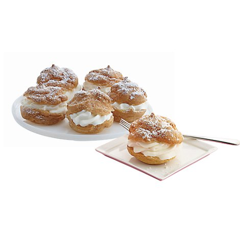 Bakery Cream Puff 6 Count - Each