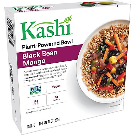 Kashi Bowl Black Bean Mango Vegan Non-GMO Project Verified Single Serve 10 oz