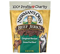 Newmans Own Dog Treat Beef Jerky Original Recipe Pouch - 5 Oz