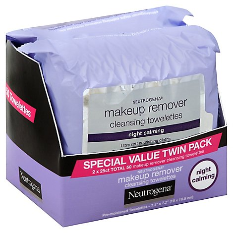 Neutrogena Makeup Remover Cleansing Towelettes Night Calming - 2-25 Count