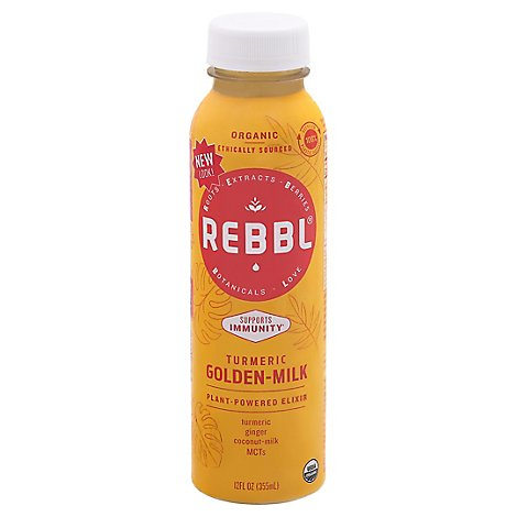 Rebbl Turmeric Golden Milk - 12 Oz