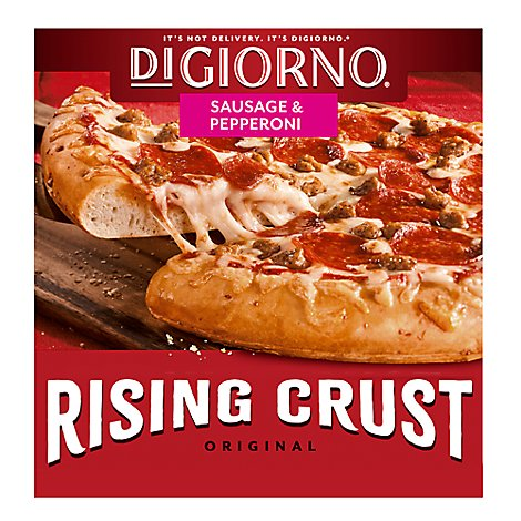 DIGIORNO Pizza Rising Crust Sausage & Pepperoni Frozen - 30.3 Oz