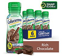 Glucerna Hunger Smart Diabetes Shake Ready-to-Drink - Rich Chocolate - 6 - 10 fl oz