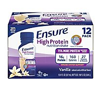 Ensure High Protein Nutrition Shake Ready To Drink Vanilla - 12-8 Fl. Oz.
