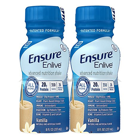 Ensure Enlive Advanced Nutrition Shake Ready To Drink Vanilla - 4-8 Fl. Oz.