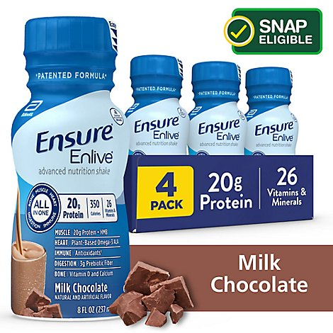 Ensure Enlive Advanced Meal Replacement Shake Ready To Drink Milk Chocolate - 4-8 Fl. Oz.