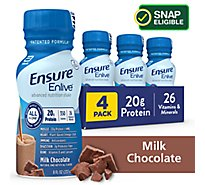 Ensure Enlive Advanced Nutrition Shake Ready-to-Drink - Milk Chocolate - 4 - 8 fl oz