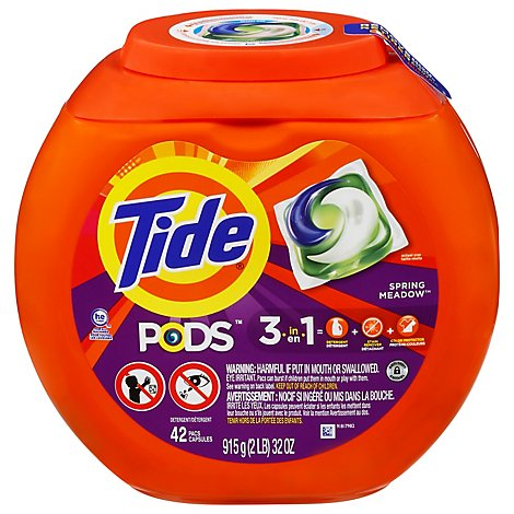Tide PODS Detergent Pacs Spring Meadow - 42 Count