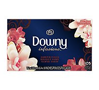 Downy Ultra Infusions Fabric Softener Sheets Amber Blossom Box - 105 Count