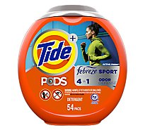 Tide + PODS Detergent 4 in 1 Febreze Odor Defense Active Fresh Pouch - 54 Count