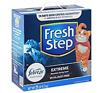 Fresh Step Cat Litter Clumping Extreme With Febreze Mountain Spring Scent Box - 25 Lb