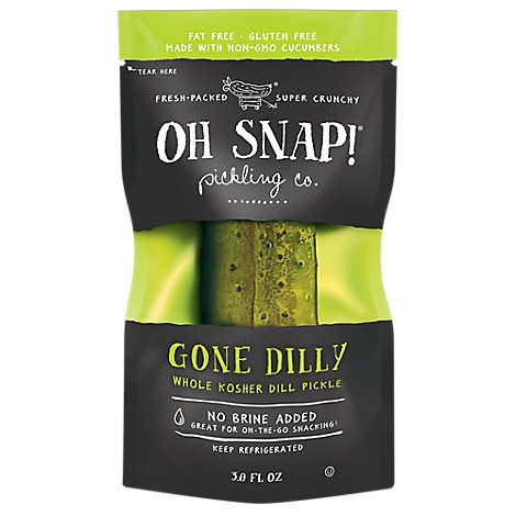 Oh Snap Pickle Dill Fresh Kosher - Each