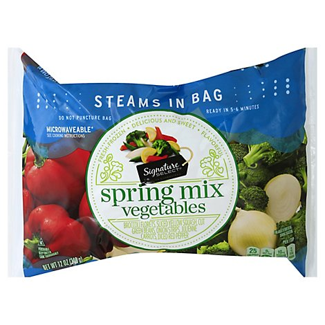 Signature SELECT/Kitchens Vegetables Spring Mix Steam In Bag - 12 Oz