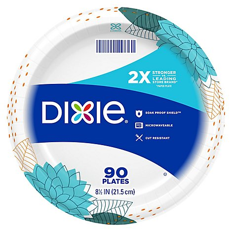 Dixie Everyday Plates Plastic 8 1/2 Inch 5 Layers - 90 Count