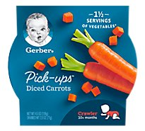 Gerber Pick-Ups Diced Carrots Tray 4.5 Oz