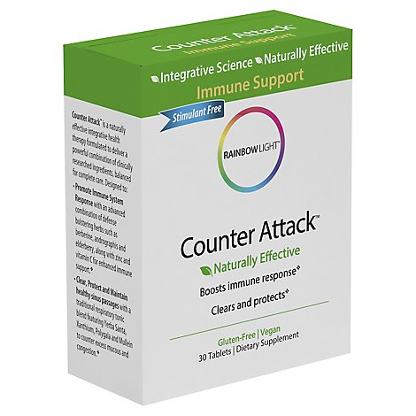 Rainbow Light Dietary Supplement Tablets Counter Attack Immune Support - 30 Count