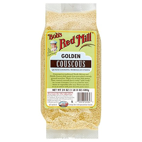Bobs Red Mill Couscous Golden Quick Cooking - 24 Oz
