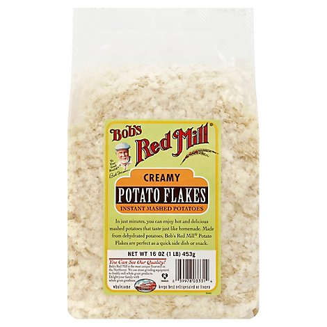 Bobs Red Mill Potato Flakes Creamy Instant Mashed Potatoes - 16 Oz
