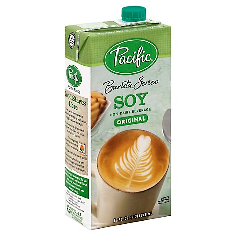 Pacific Barista Series Beverage Non-Dairy Original Soy - 32 Fl. Oz.