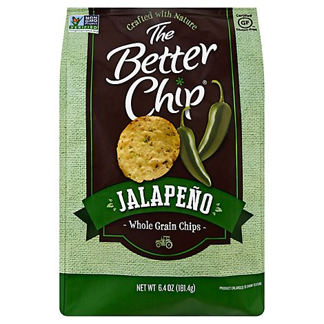 The Better Chip Jalapeno Whole Grain Chips - 6.4 Oz