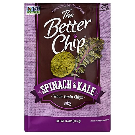 The Better Chip Spinach & Kale Whole Grain Chips - 6.4 Oz
