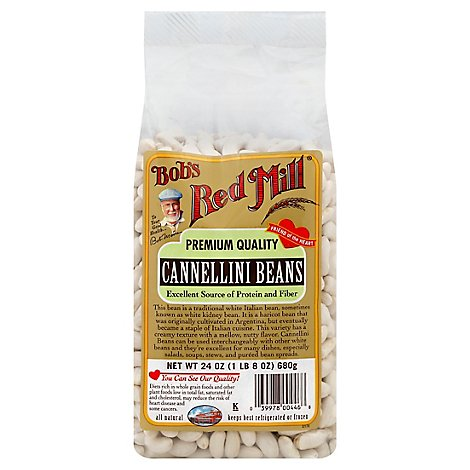 Bobs Red Mill Heritage Beans Cannellini - 24 Oz