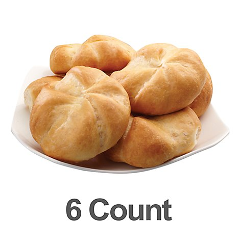 Bakery Rolls Kasier - 6 Count