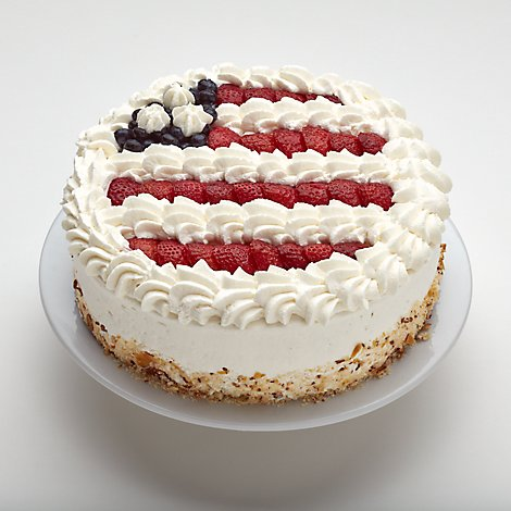 Bakery Cake 10 Inch Red White And Blue - Each