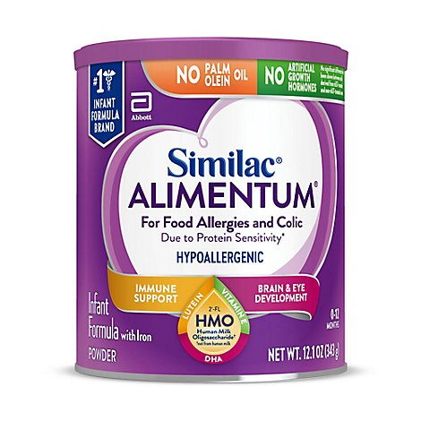 Similac Infant Formula Powder Alimentum Hypoallergenic and Colic With Iron - 12.1 Oz