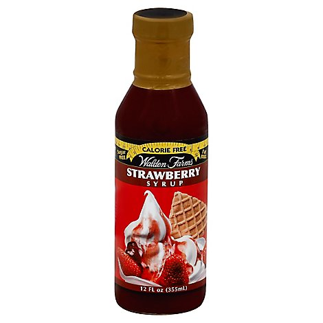 Walden Farms Syrup Calorie Free Strawberry - 12 Fl. Oz.