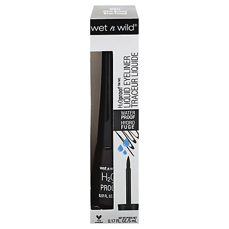 Wet N Wild H2Oproof Eyeliner Liquid Dark Brown 880 - 0.17 Oz