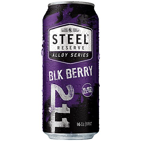 Steel Reserve Alloy Malt Liquor Blackberry Cans 8% ABV - 4-16 Fl. Oz.