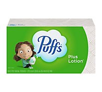 Puffs Facial Tissue Plus Lotion 2-Ply White Box - 124 Count