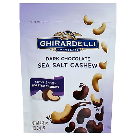 Ghirardelli Chocolate Dark Chocolate Sea Salt Cashew - 4.8 Oz