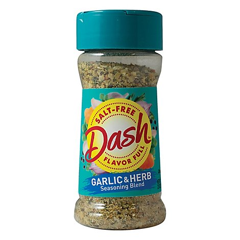 Dash Seasoning Blend Salt Free Garlic & Herb - 2.5 Oz