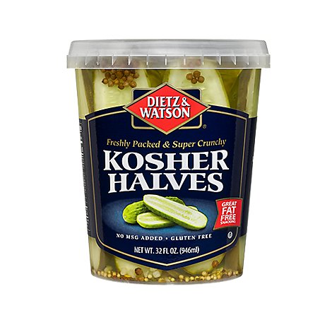 Dietz & Watson Kosher Pickle Halves 32 Oz