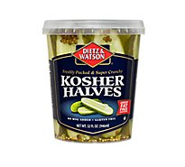 Dietz & Watson Kosher Pickle Halves Fat Free - 32 Oz