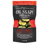Oh Snap Pickle Bites Dill Hot Kosher - 3.5 Oz
