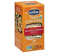 Lundberg Thin Stackers Cakes Rice Organic Red Rice & Quinoa - 24 Count