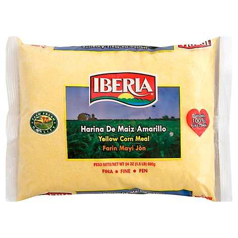 Iberia Corn Meal Yellow Fine Bag - 24 Oz