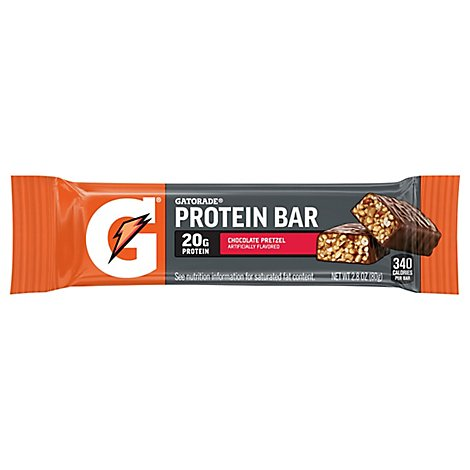 Gatorade Protein Bar Whey Chocolate Pretzel - 2.8 Oz