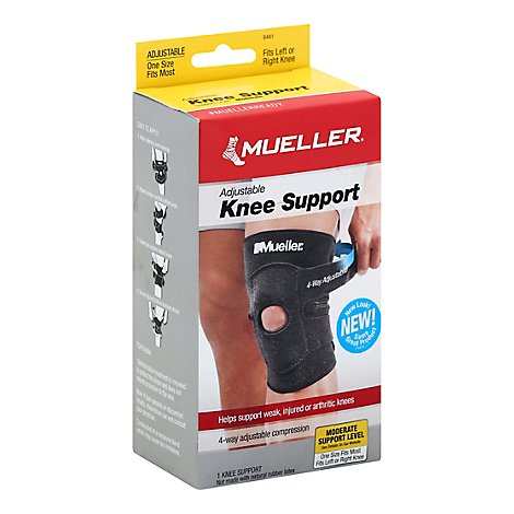 Mueller Knee Support 4-Way Moderate Support Level Adjustable - Each