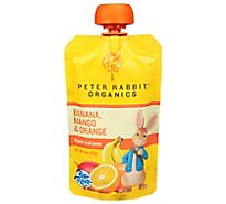 Peter Rabbit Organics Snack Fruit Pure Mango Banana & Orange - 4 Oz