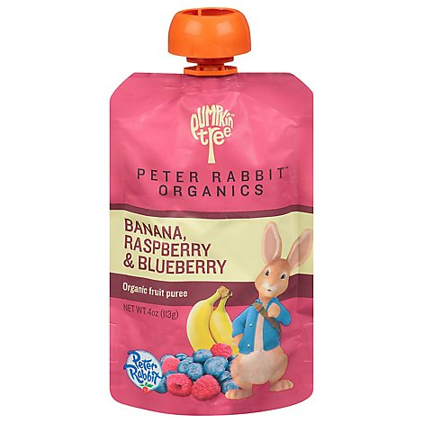 Peter Rabbit Organics Snack Fruit Pure Raspberry Banana & Blueberry - 4 Oz
