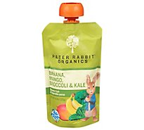 Peter Rabbit Organics Snack Vegetable Fruit Pure Kale Broccoli & Mango - 4.4 Oz