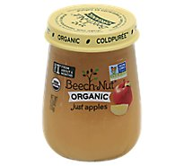 Beech-Nut Baby Food Organic Stage 1 Just Apples Jar - 4.25 Oz