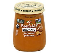 Beech-Nut Baby Food Organic Stage 1 Just Sweet Potatoes Jar - 4.25 Oz
